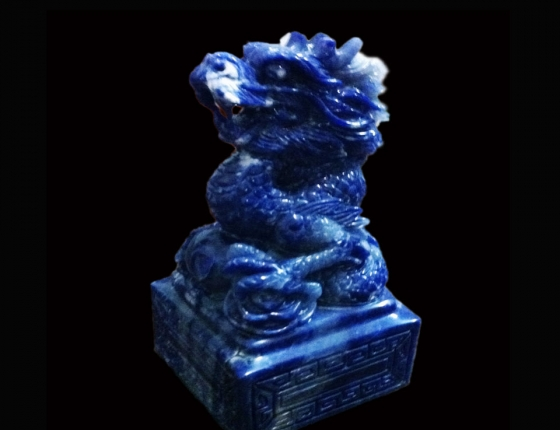 Ấn rồng ngọc bích xanh