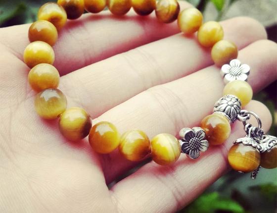 Vòng tay phong thủy - Thạch anh vàng mắt hổ MH01