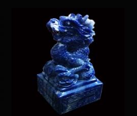 Ấn rồng ngọc bích xanh thăng tiến trí tuệ