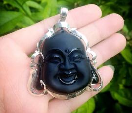 Mặt Phật Di Lạc đá núi lửa