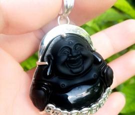 Mặt Phật Di Lạc đá núi lửa - DLO 02