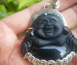 Mặt Phật Di lạc đá núi lửa MD 04